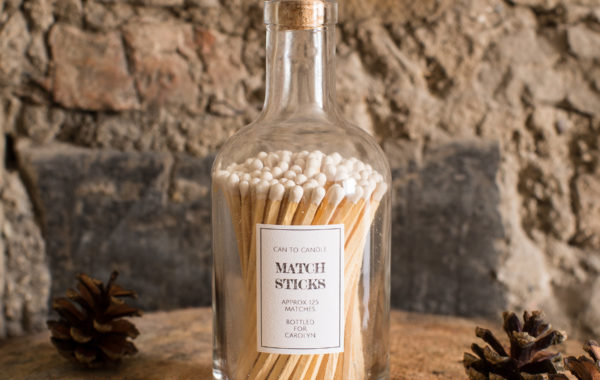 Bottle of matchsticks