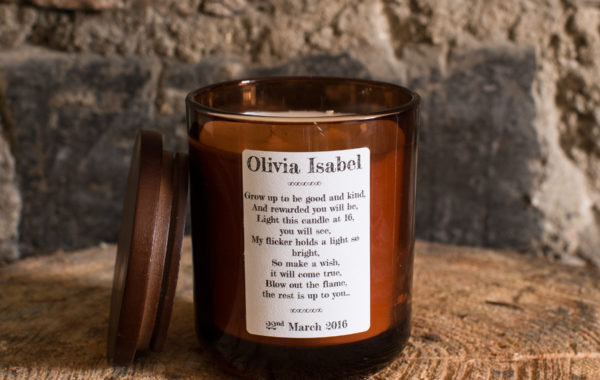 Personalised Christening candle 2