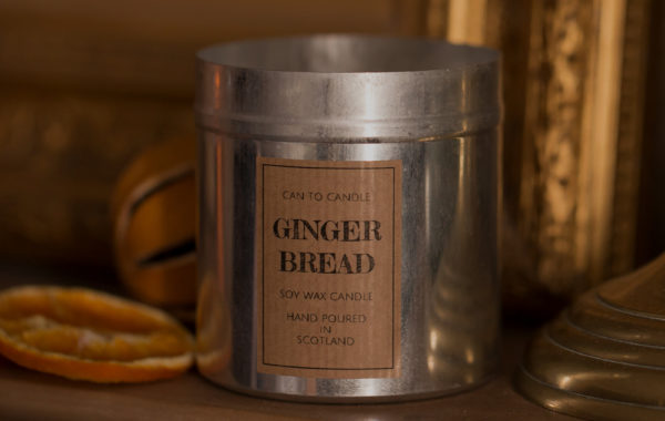 gingerbread can candle